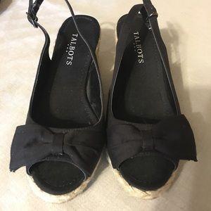 Talbots Espadrille Black Shoes Size 7